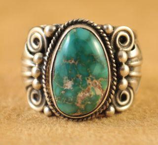 Darrell Cadman Sterling S Handmade Old Style Navajo Ring Carico Lake