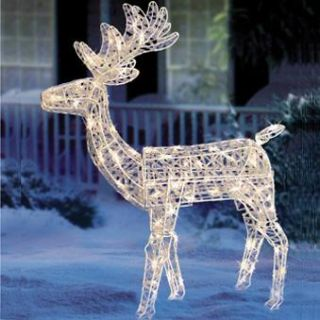 Christmas Lighted 3D Animated Standing Deer Buck Decoration Outdoor