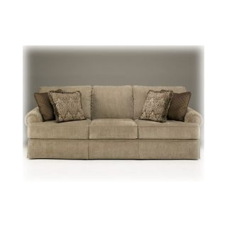 ASHLEY SHEFFIELD PLATINUM HUGE Plush Formal Sofa Love HOUSTON ONLY