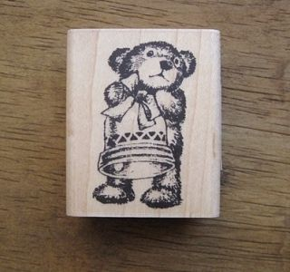 Decorative Stamps Rubber Stamp Teddy Bear Jingle Bell