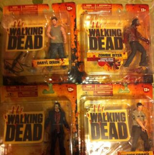 Dead Figures Complete Set Series 1 Daryl Dixon Rick Grimes