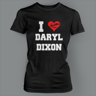 Heart Daryl Dixon Funny Crossbow Zombie Walking Dead Ladies T Shirt