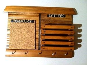Letter and Key Holder with Reminder Cork Board High Quality