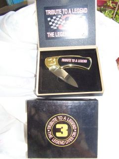 Dale Earnhardt Collector Pocket Knife Tribute to A Legend 3 NASCAR