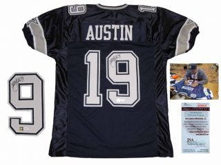 Miles Austin Dallas Cowboys Signed Home Jersey JSA WPP