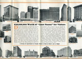 Dallas Texas A Friendly City in A Friendly State Brochure 1936