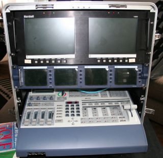 DataVideo SE 800DV Video Mixer and monitors