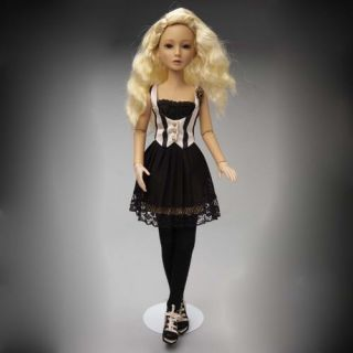Delilah Black Vintage Outfit with long Blonde Wig, New and Mint SOLD