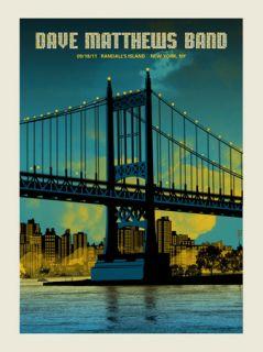 Dave Matthews Band Poster 2011 Randalls Island New York NY Caravan N3