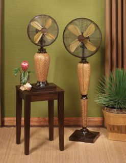 Tropical Kailua Floor Fan 3 Speeds Whisper Quiet by Deco Breeze