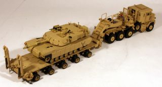 HET M1070 Tractor M1000 Trailer M1 Abrams Tank Load US Army (Tan) 1/50