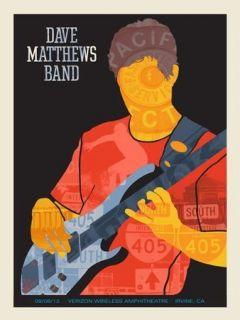 Dave Matthews Band Poster   Stefan Lessard (Fonz)   Irvine, CA   9/8