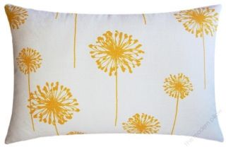 12x20 MUSTARD YELLOW DANDELION decorative throw pillow cover