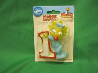 Simpsons Wilton Maggie Simpson Candle Cake Decoration RARE