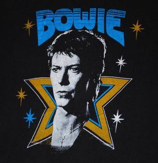 Original Vintage David Bowie Tour T Shirt 1970s M