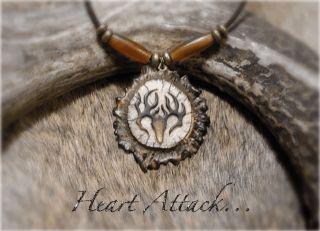 Man Womens Whitetail Deer Carve Bone Horn Antler Necklace Mathews or