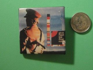Pink Floyd The Final Cut Pin Pinback Promo Mini Square Album Vtg Made