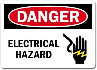 Danger Electrical Hazard Sign Wall Window Car Vinyl Sticker Decal Pick