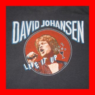 1982 David Johansen Vtg Tour T Shirt New York Dolls OG