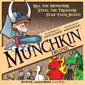 Munchkin Deluxe Card/Board Game (Steven Jackson Games)