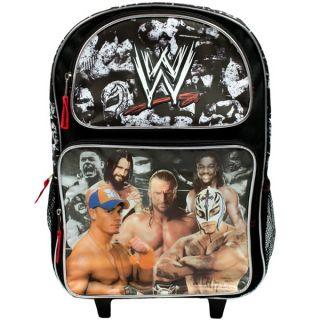 WWE Superstars Rolling Backpack Bag John Cena,CM Punk,Rey Mysterio