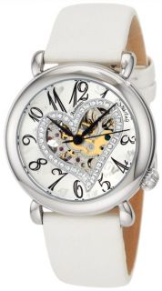 1215P2 Auto Amour Aphrodite Delight White Leather Womens Watch