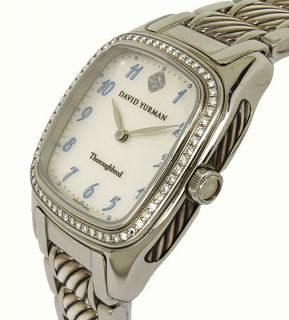 David Yurman Silver s Steel Diamonds Thoroughbred Watch
