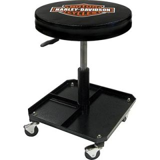 Harley Davidson Garage Pneumatic Shop Stool Seat Chair