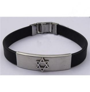 Support Israel David Star Stainless Steel Jew Bracelet
