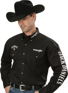Wrangler Mens Jack Daniel's Shirt L Ed Black