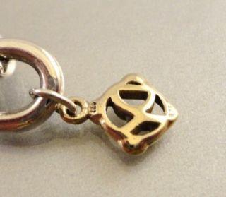 18 Kt Gold & Sterling Silver David Yurman Bracelet Size 7.5