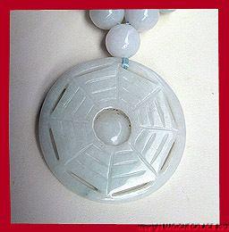 Stunning natural carved white jade jadeite pendant necklace