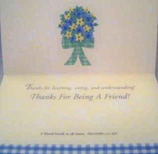 Friendship Greeting Card Includes Bible Verse Thanks for Being A