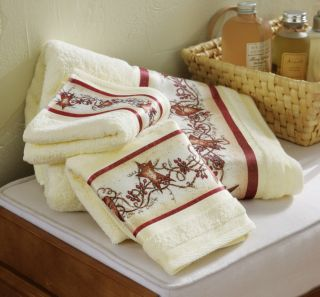 Hearts and Stars Country Bath Towel Set