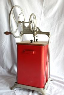ANTIQUE VINTAGE DAZEY DAZY BUTTER CHURN RED METAL MODEL 230B