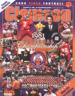 Clemson Tigers Danny Ford Signed National Champions Program All Tigers