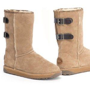 New Womens Emu Darlington Australian Sheepskin Boots Mushroom W10141