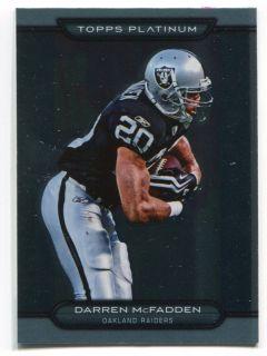 2010 Topps Platinum Card 139 Darren McFadden Raiders