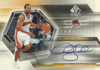 2004 05 SP Authentic Signatures DF Derek Fisher Auto