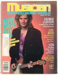 International Musician Magazine Daryl Hall George Clinton Lou Reed GTR