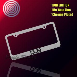 High QUALTIY Universal Fit Chrome Dub Die Cast Zinc License Plate