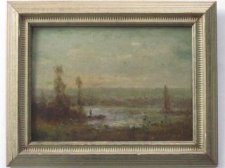 De LAubinière Fine Signed French Impressionist Oil Painting Canadian