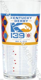 New Official 2013 Kentucky Derby Glasses in Stock Ready to SHIP