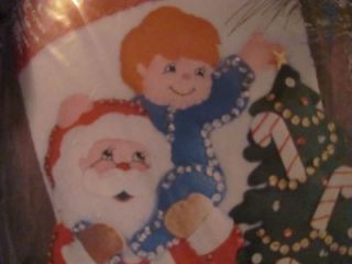 Felt Christmas Stocking Kit Design Works Crafts Santa Tree Reach for