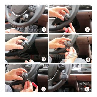 Vehicle Wheel Steering Spinner power handle ball Knob peach wood
