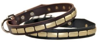 Plated Beauty Leather Dog Collar Top Quality by D T