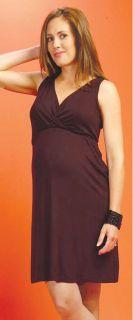 New Japanese Weekend Maternity Black Interlocking Nursing Dress