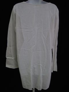 Debbie Katz South Beach White Long Sleeve Cover Up Sz M