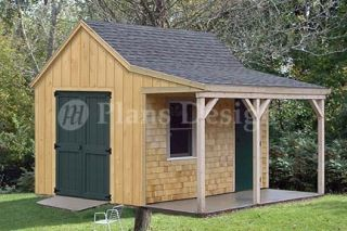 12 x 12 Cottage Cabin Shed Plans Blueprints 81212