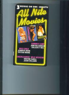 All Nite Movies VHS Tape Kristine DEBELL Wild CHILD Summer CAMP